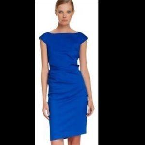DVF Ruched Cobalt Dress